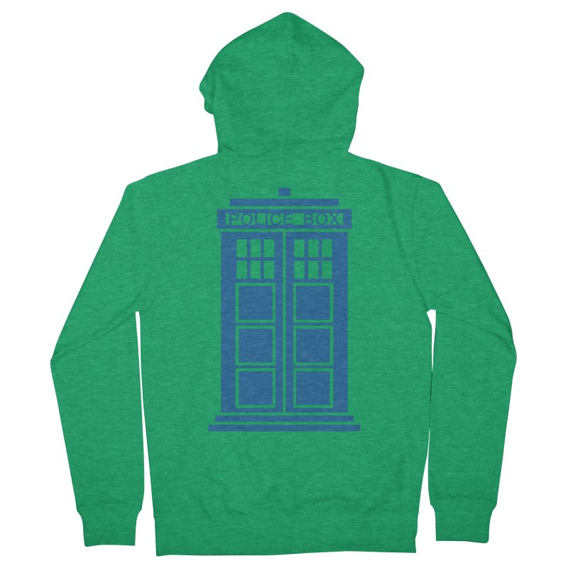 Tardis flies Men's French Terry Zip-Up Hoody by Synner Design