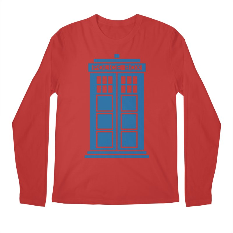 Tardis flies Men's Regular Longsleeve T-Shirt by Synner Design