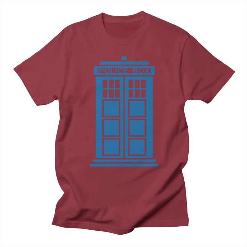 Tardis flies Men's Regular T-Shirt by Synner Design
