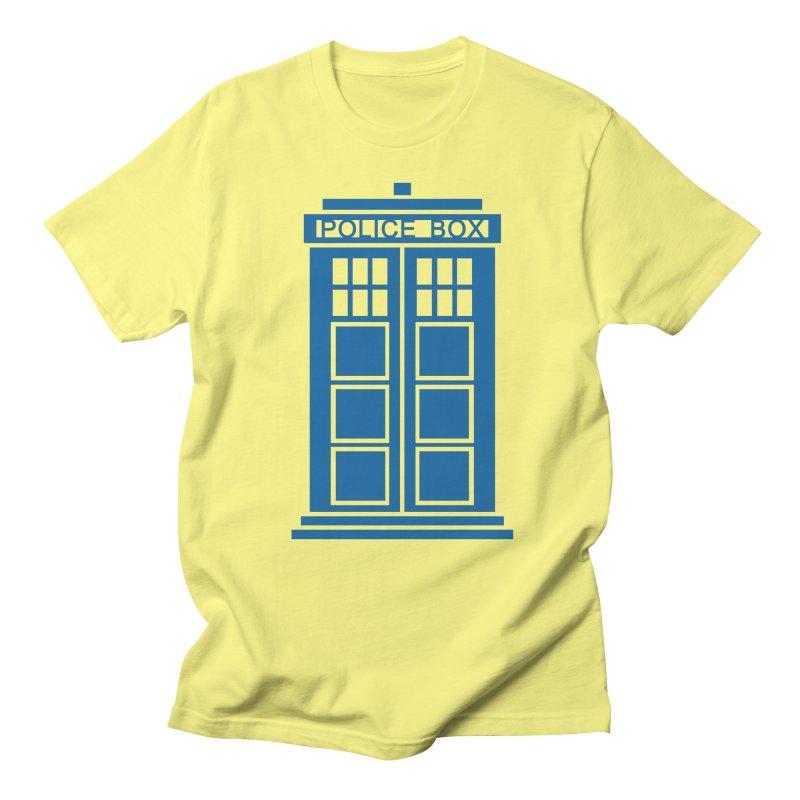 Tardis flies Women's Regular Unisex T-Shirt by Synner Design