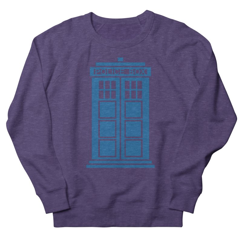 Tardis flies Women's French Terry Sweatshirt by Synner Design