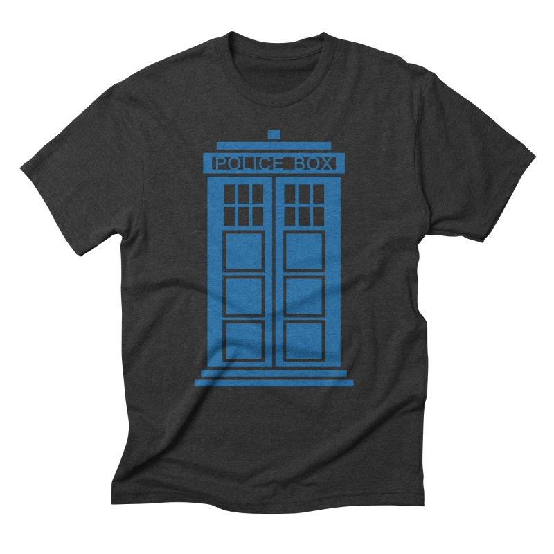 Tardis flies Men's Triblend T-Shirt by Synner Design