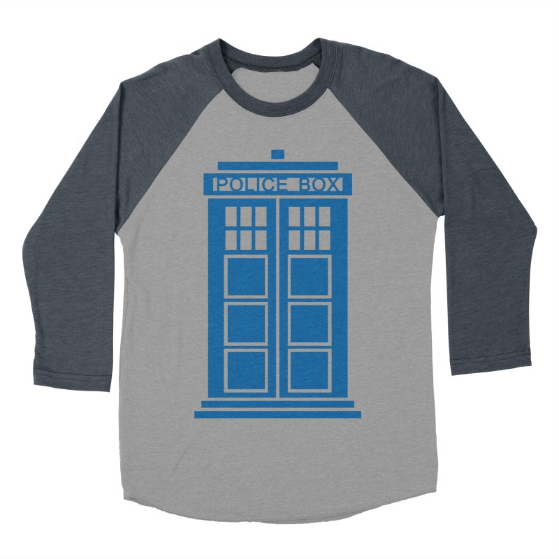 Tardis flies Women's Baseball Triblend Longsleeve T-Shirt by Synner Design