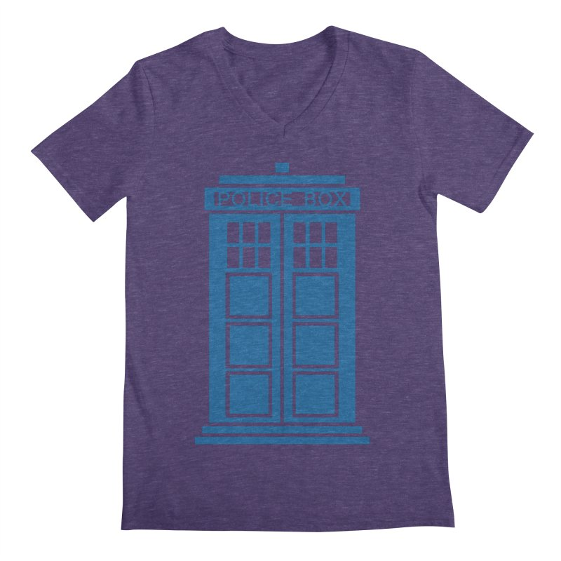 Tardis flies Men's Regular V-Neck by Synner Design