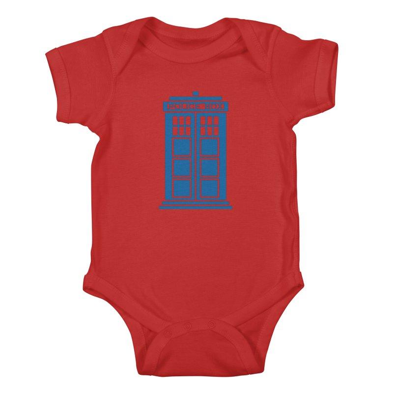 Tardis flies Kids Baby Bodysuit by Synner Design