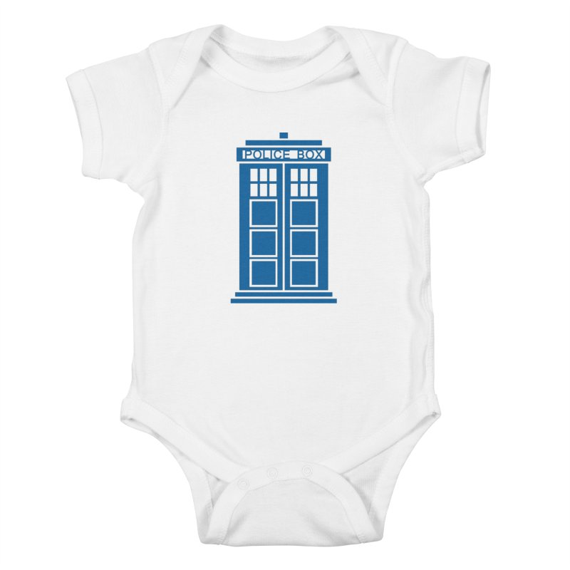 Tardis flies Kids Baby Bodysuit by Synner Design