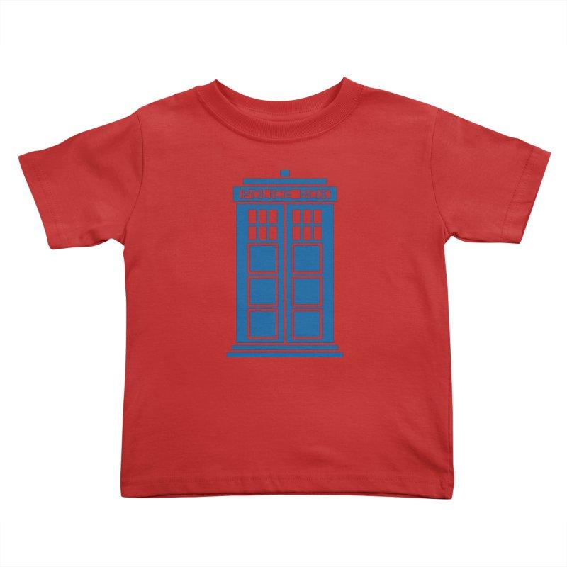 Tardis flies Kids Toddler T-Shirt by Synner Design