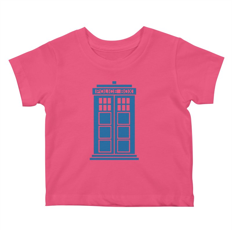 Tardis flies Kids Baby T-Shirt by Synner Design