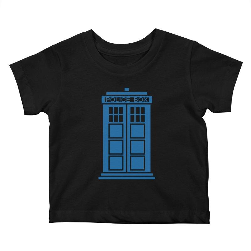 Tardis flies Kids Baby T-Shirt by Synner Design