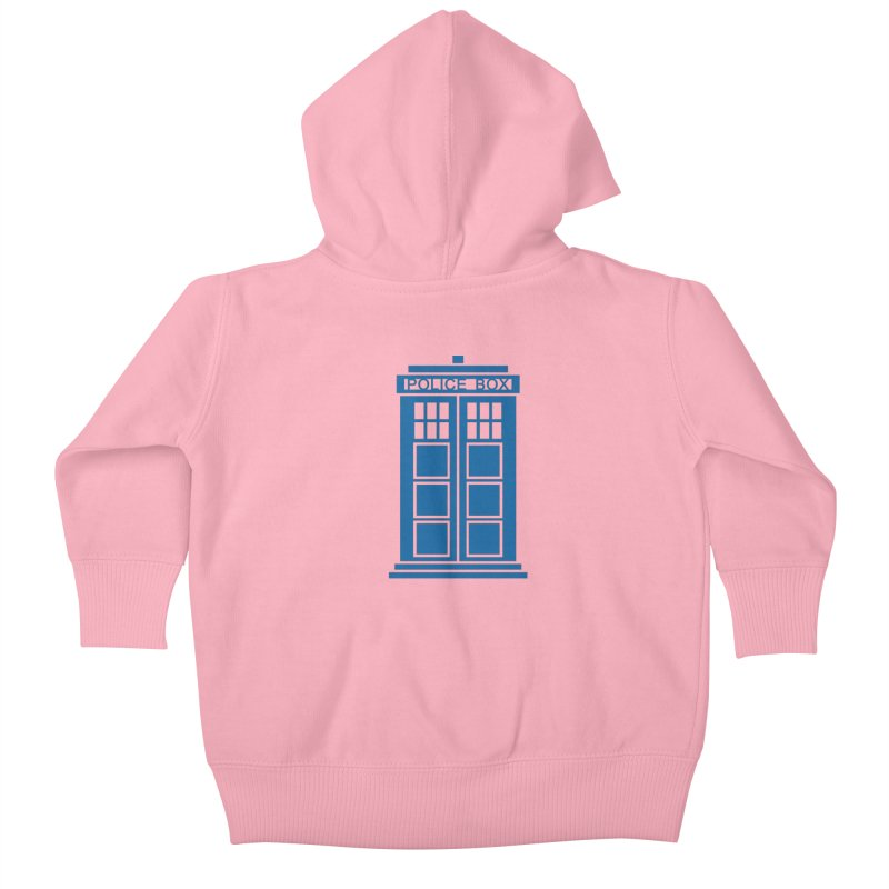 Tardis flies Kids Baby Zip-Up Hoody by Synner Design