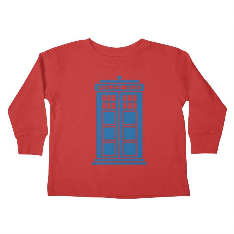 Tardis flies Kids Toddler Longsleeve T-Shirt by Synner Design