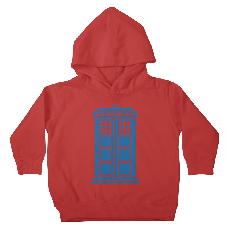 Tardis flies Kids Toddler Pullover Hoody by Synner Design