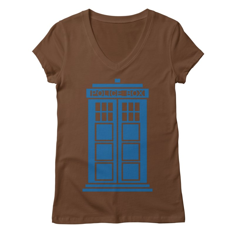 Tardis flies Women's Regular V-Neck by Synner Design
