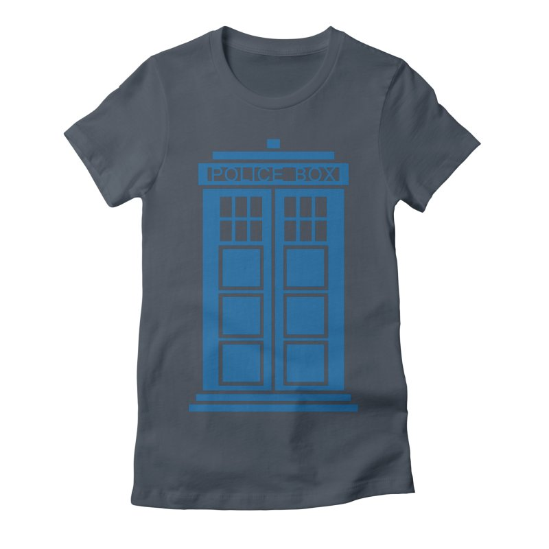 Tardis flies Women's Fitted T-Shirt by Synner Design