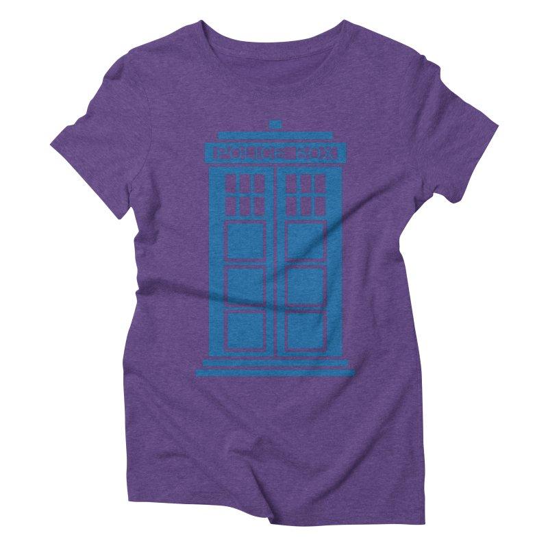 Tardis flies Women's Triblend T-Shirt by Synner Design