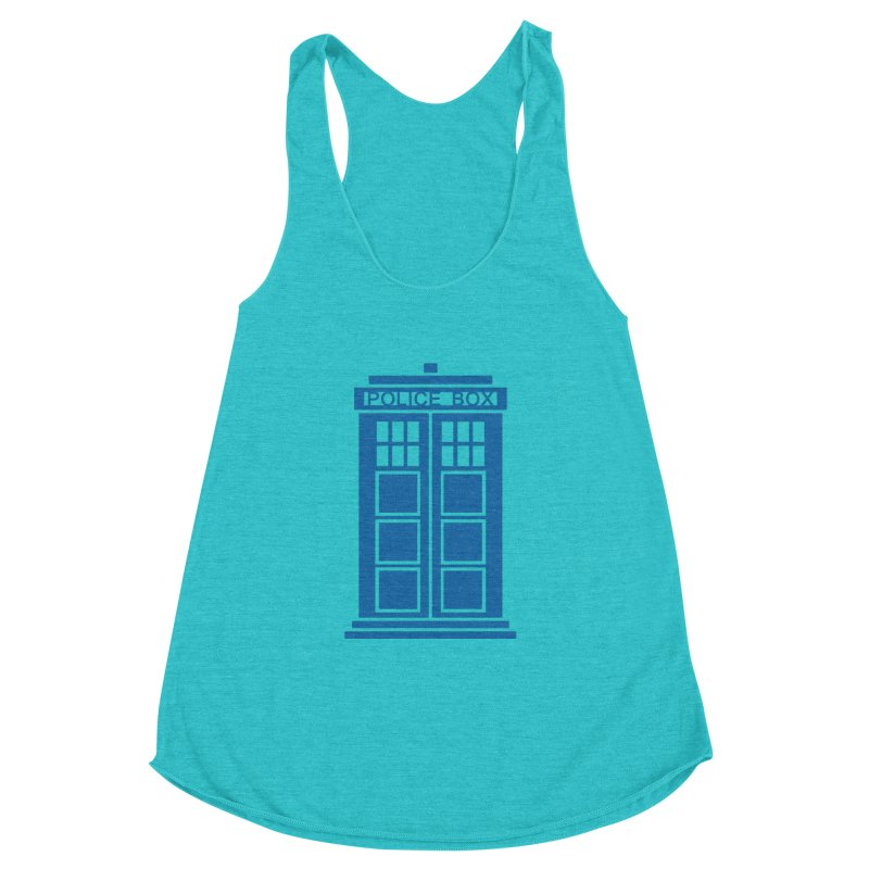 Tardis flies Women's Racerback Triblend Tank by Synner Design