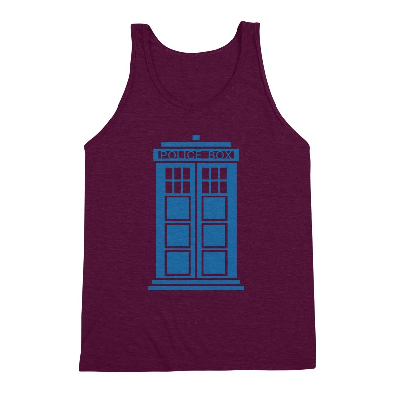 Tardis flies Men's Triblend Tank by Synner Design