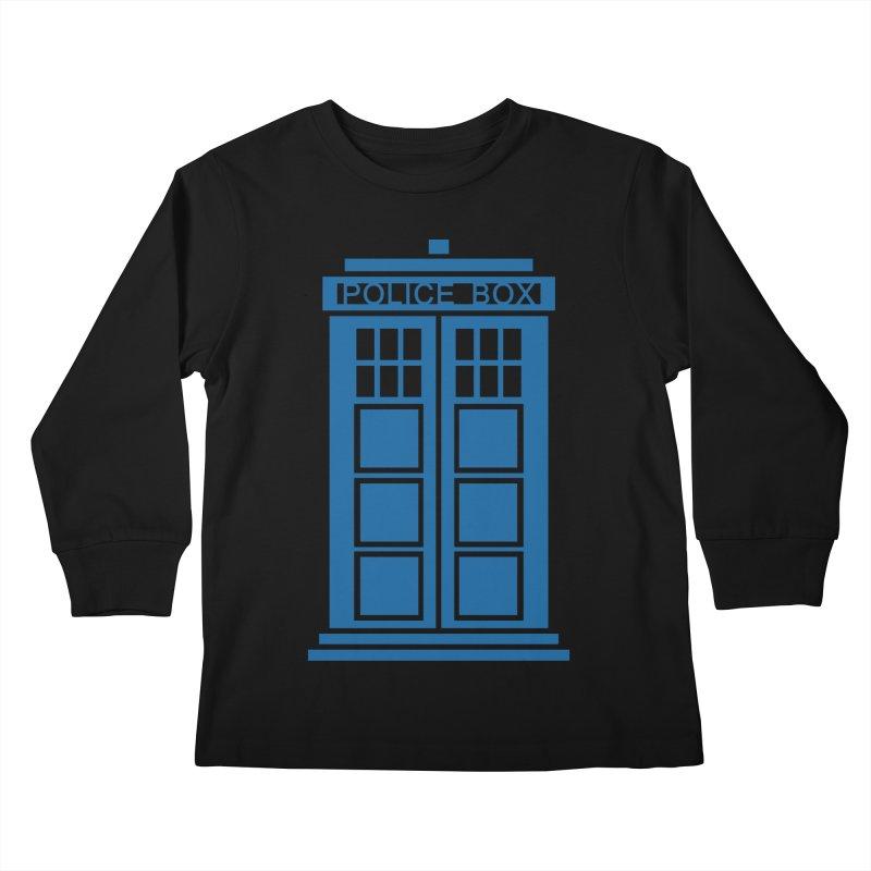 Tardis flies Kids Longsleeve T-Shirt by Synner Design