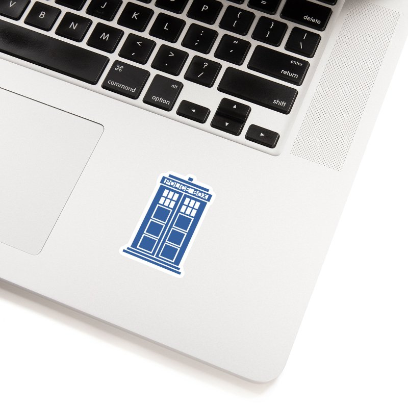 Tardis flies Accessories Sticker by Synner Design