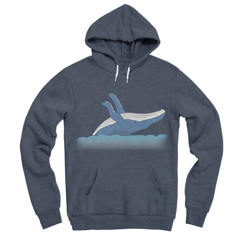 Humpback jumps! Men's Sponge Fleece Pullover Hoody by Synner Design