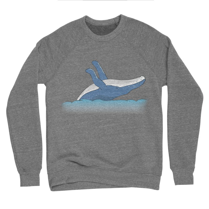 Humpback jumps! Women's Sponge Fleece Sweatshirt by Synner Design