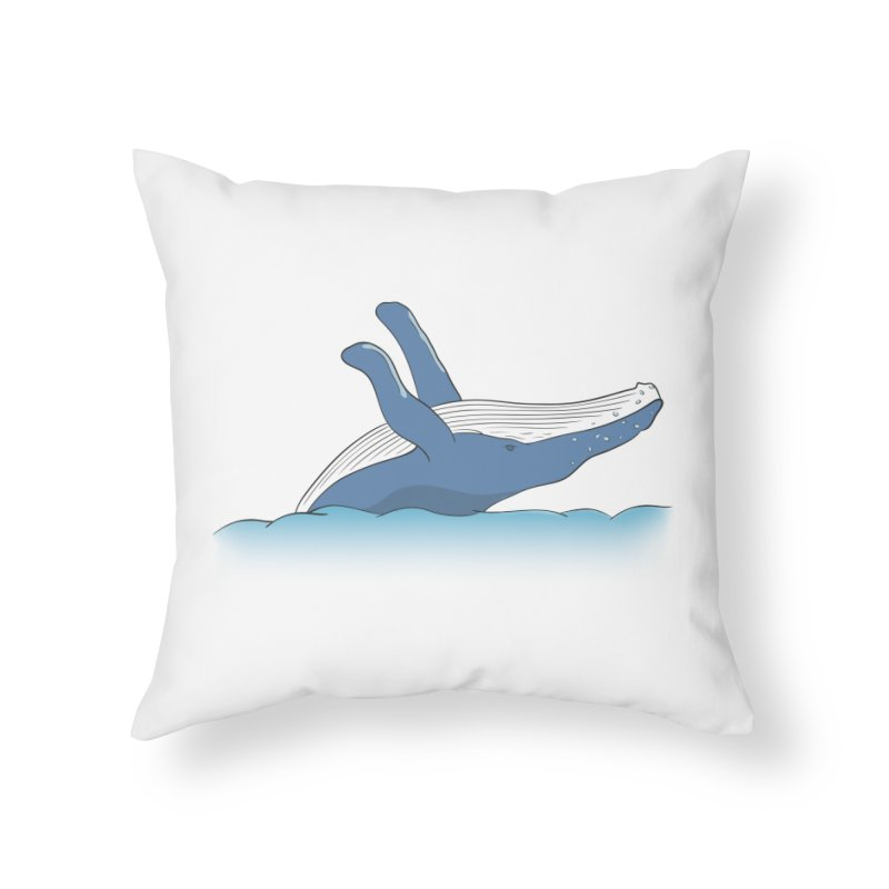 Humpback jumps! Home Throw Pillow by Synner Design