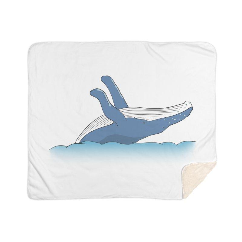 Humpback jumps! Home Blanket by Synner Design