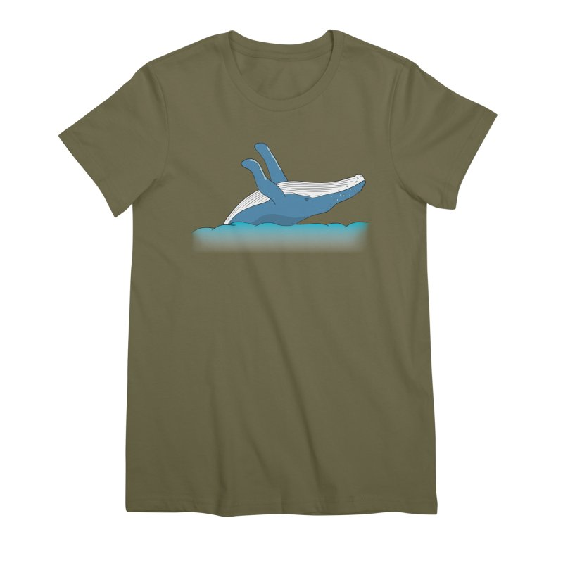 Humpback jumps! Women's Premium T-Shirt by Synner Design