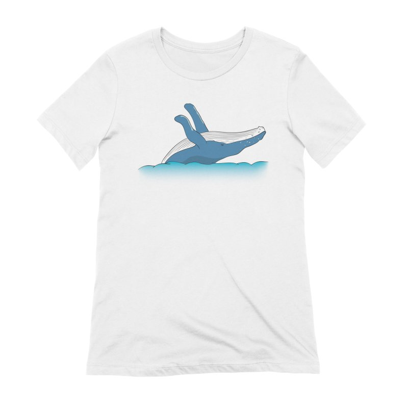 Humpback jumps! Women's Extra Soft T-Shirt by Synner Design