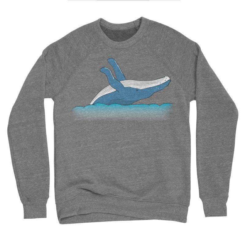 Humpback jumps! Men's Sponge Fleece Sweatshirt by Synner Design