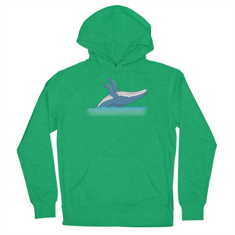Humpback jumps! Men's French Terry Pullover Hoody by Synner Design