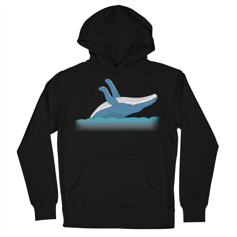 Humpback jumps! Women's French Terry Pullover Hoody by Synner Design