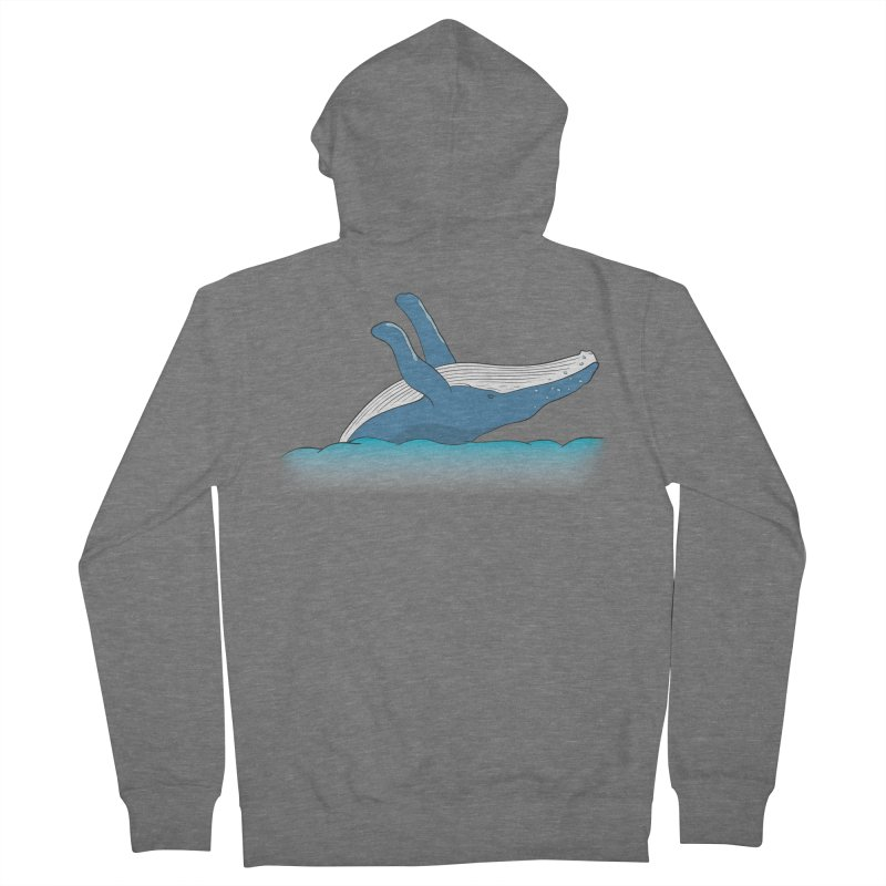 Humpback jumps! Women's French Terry Zip-Up Hoody by Synner Design
