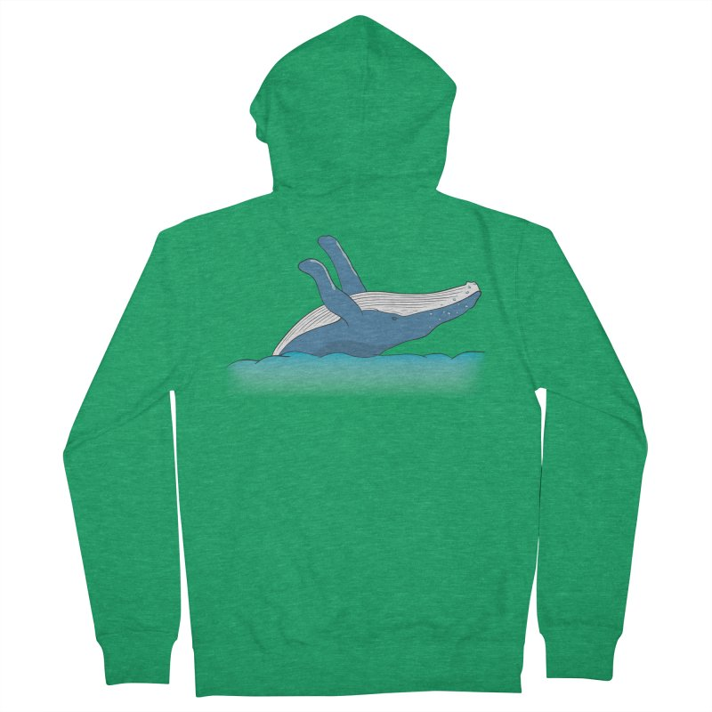 Humpback jumps! Men's French Terry Zip-Up Hoody by Synner Design