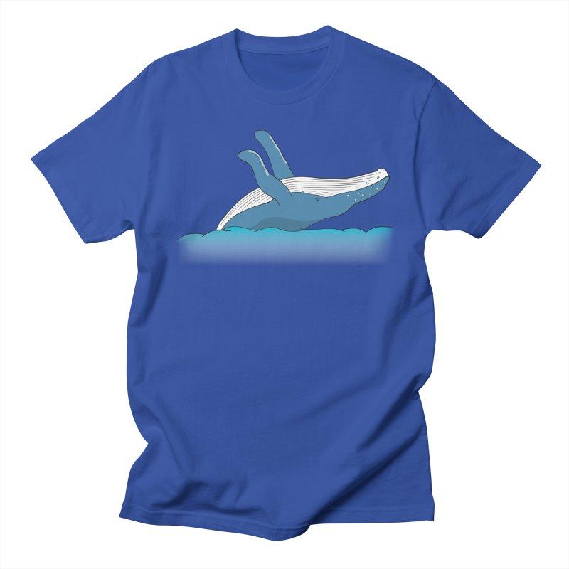 Humpback jumps! Men's Regular T-Shirt by Synner Design