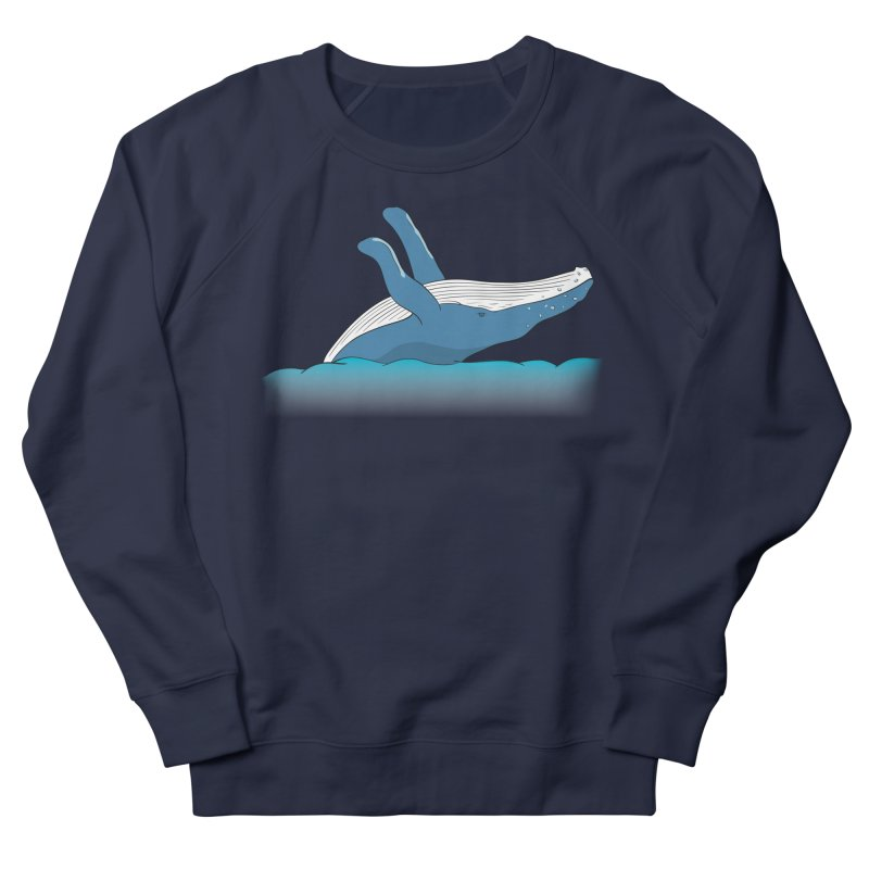 Humpback jumps! Women's French Terry Sweatshirt by Synner Design