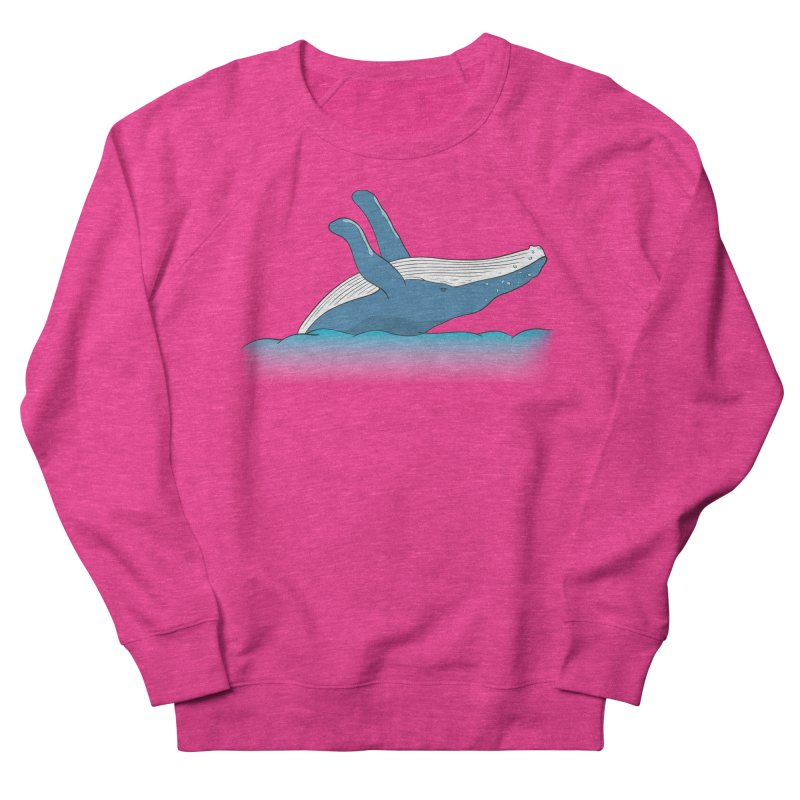 Humpback jumps! Men's French Terry Sweatshirt by Synner Design