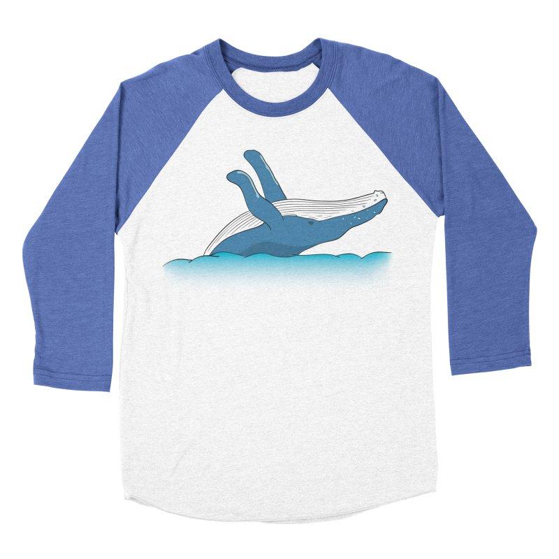 Humpback jumps! Men's Baseball Triblend Longsleeve T-Shirt by Synner Design