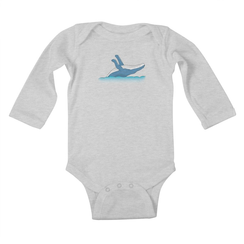 Humpback jumps! Kids Baby Longsleeve Bodysuit by Synner Design