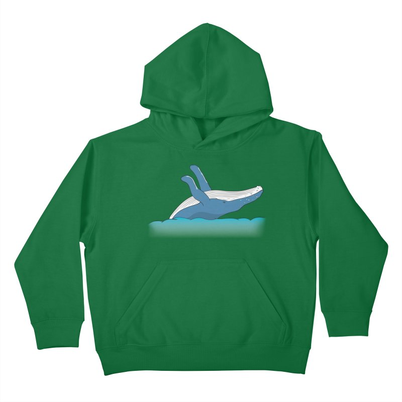 Humpback jumps! Kids Pullover Hoody by Synner Design