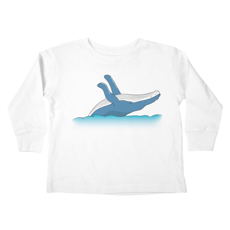 Humpback jumps! Kids Toddler Longsleeve T-Shirt by Synner Design