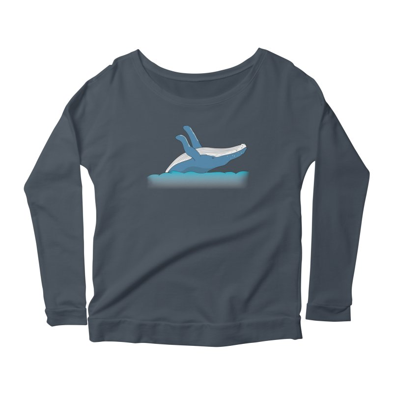 Humpback jumps! Women's Scoop Neck Longsleeve T-Shirt by Synner Design