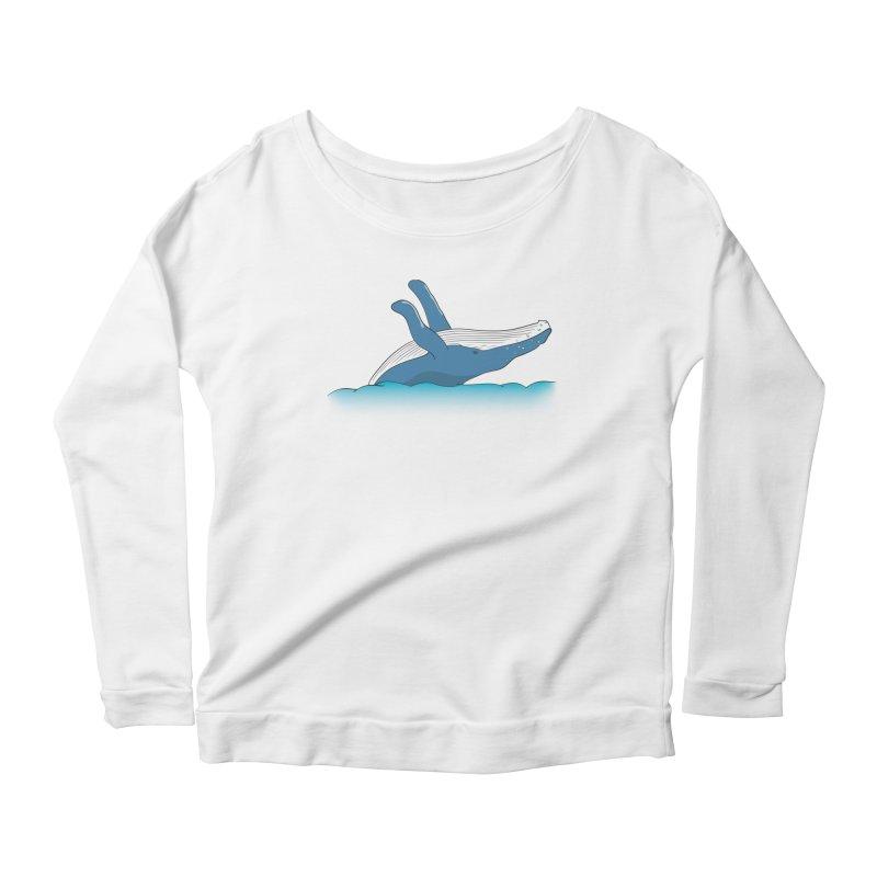 Humpback jumps! Women's Scoop Neck Longsleeve T-Shirt by Synner Design