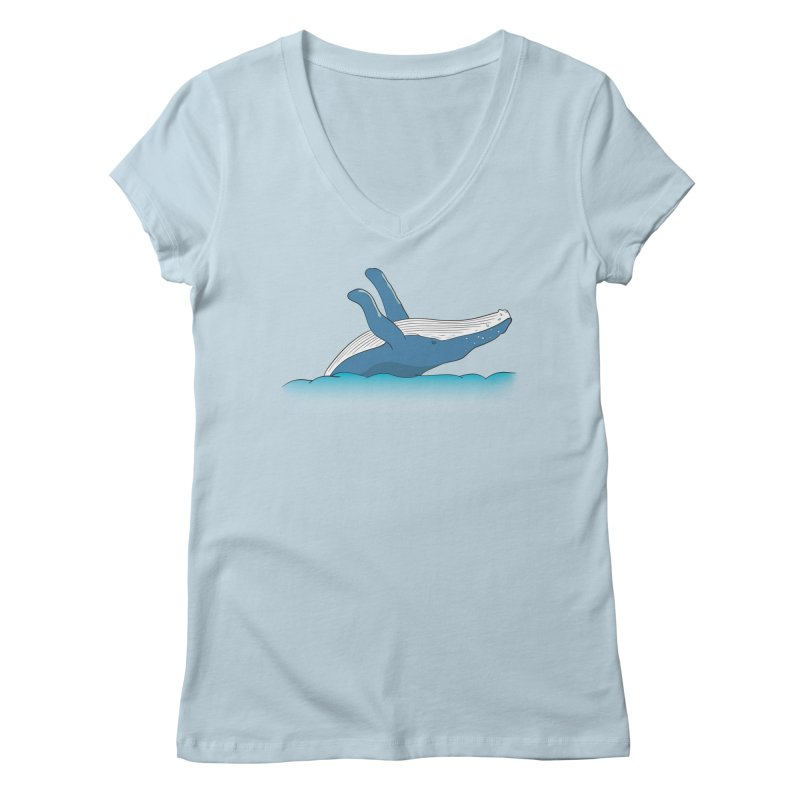 Humpback jumps! Women's Regular V-Neck by Synner Design