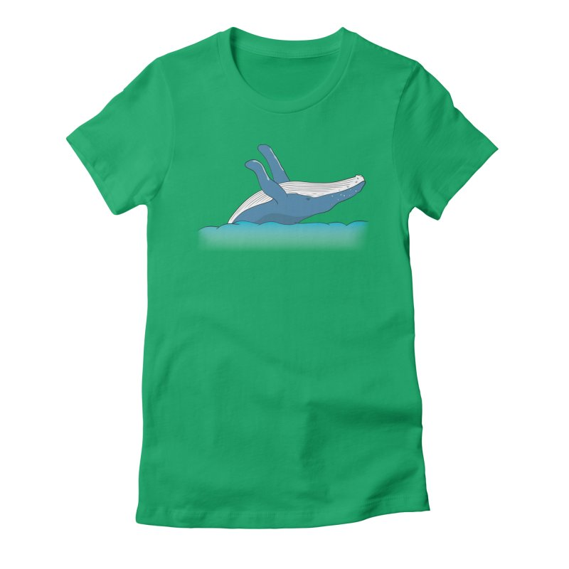 Humpback jumps! Women's Fitted T-Shirt by Synner Design