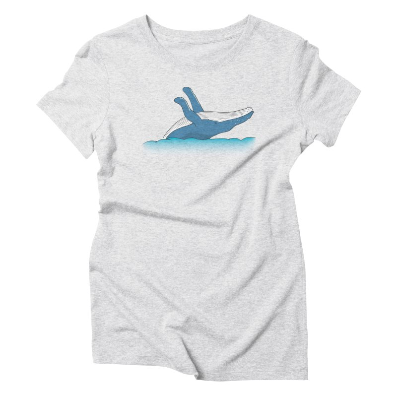 Humpback jumps! Women's Triblend T-Shirt by Synner Design