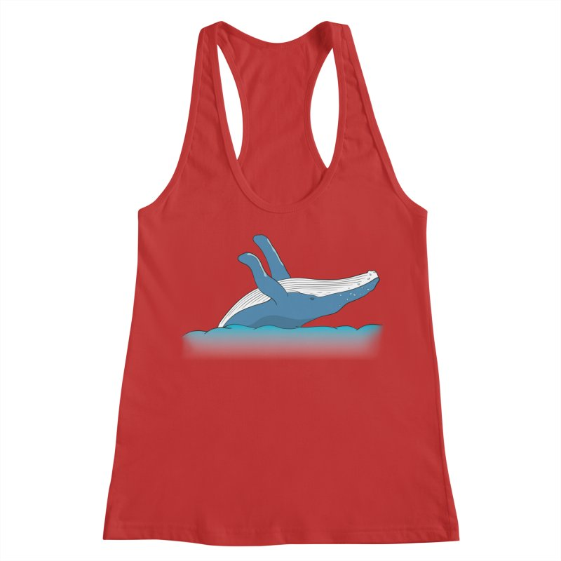 Humpback jumps! Women's Racerback Tank by Synner Design