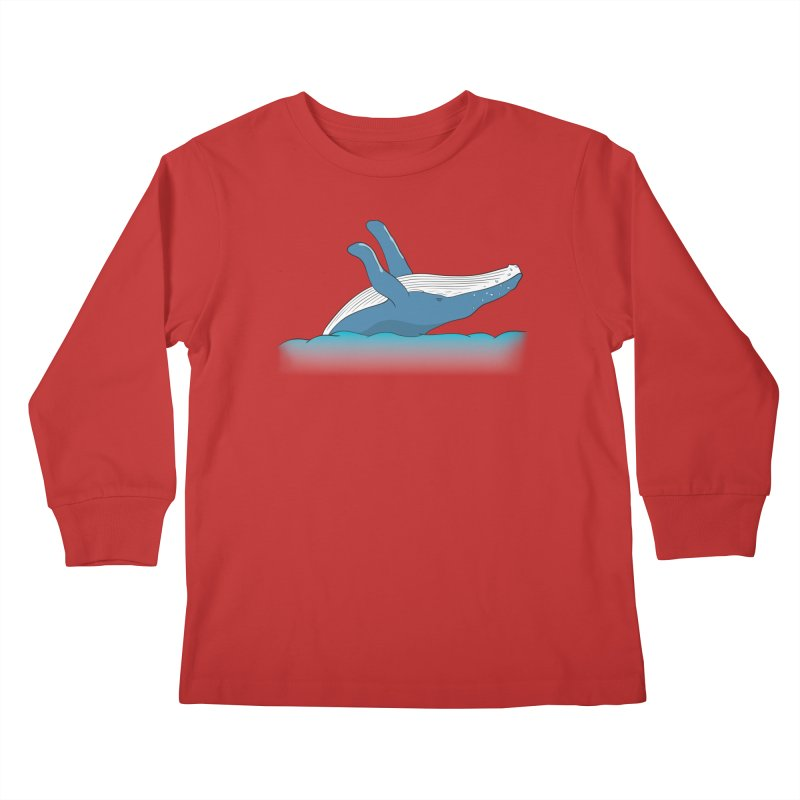 Humpback jumps! Kids Longsleeve T-Shirt by Synner Design