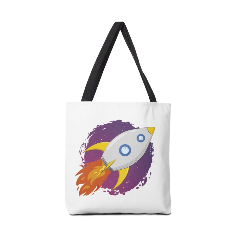 Space Rocket Accessories Tote Bag Bag by Synner Design