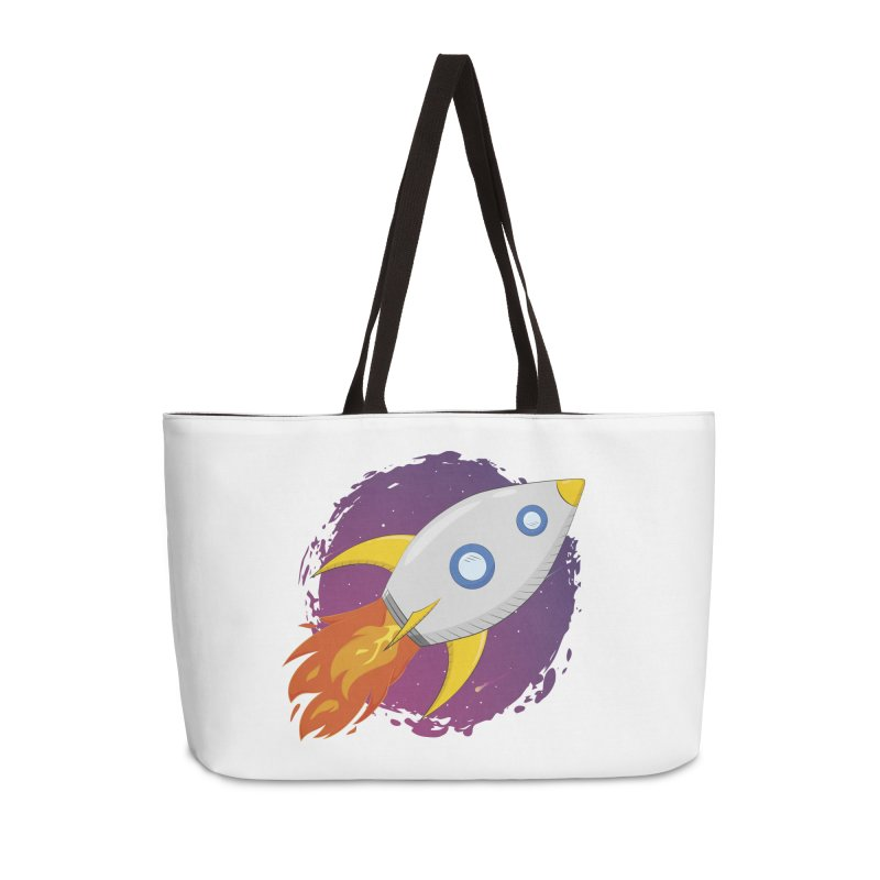 Space Rocket Accessories Weekender Bag Bag by Synner Design